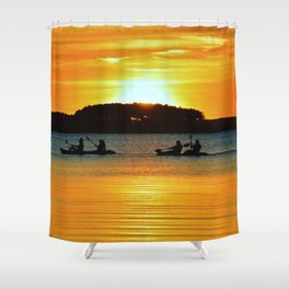 Two Tandems Shower Curtain