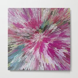 Abstract flower pattern 3 Metal Print