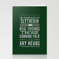 slytherin Stationery Cards featuring Slytherin by Dorothy Leigh