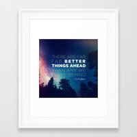 "pocketfuel Framed Art Prints featuring CS Lewis ""Better Things Ahead"" by Pocket Fuel"
