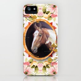 Paint Horse in the Botanical Garden iPhone Case