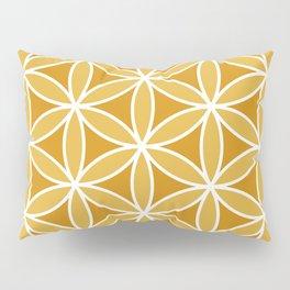 Flower of Life Large Ptn Oranges & White Pillow Sham