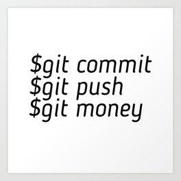 Git Money Art Print