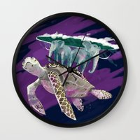 discworld Wall Clocks featuring Terry Pratchett  by Lesley Vamos