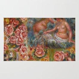 """Auguste Renoir """"Étude De Nus Et De Fleurs"""" Rug"""