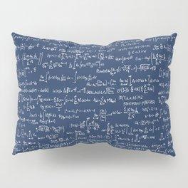 Math Equations // Navy Pillow Sham