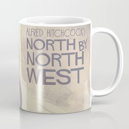 North by Northwest, Alfred Hitchcock, vintage movie poster, Cary Grant, minimalist Coffee Mug