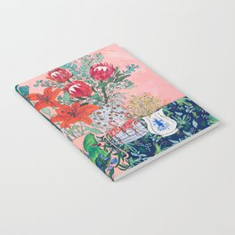 The Domesticated Jungle - Floral Still Life Notebook