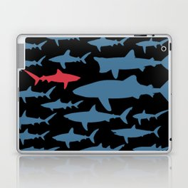 Swim with sharks Laptop & iPad Skin