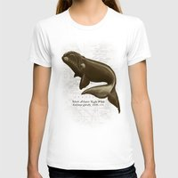 biology T-shirts featuring North Atlantic Right Whale by Amber Marine