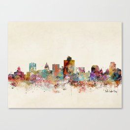 salt lake city utah Canvas Print