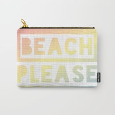 Beach Please - Rainbow Ombre Carry-All Pouch