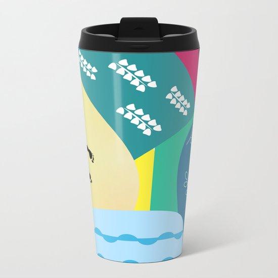 Abstract summer route Metal Travel Mug