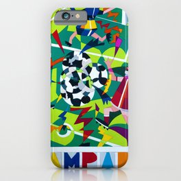 Vintage 1990 Campari Soccer Nespolo Mondiali Advertisement Print iPhone Case