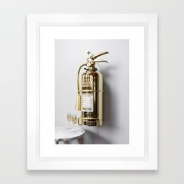 In Case Of Emergency - Champagne Extinguisher - Luxury Edition Framed Art Print