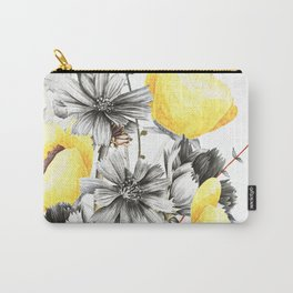 Poppies And Chicory Wildflower Bouquet Carry-All Pouch