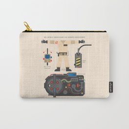 Ghostbusters movie poster, BIll Murray, Peter Venkman, Harold Ramis, proton pack, ghost trap Carry-All Pouch