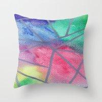 tye dye Throw Pillows featuring Tie dye by Bridget Davidson
