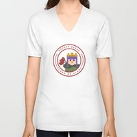archer V-neck T-shirts featuring Archer Queen by chiams