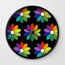 Flower pattern based on James Ward's Chromatic Circle (enhanced) Wall Clock