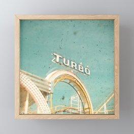 Roller Coaster Framed Mini Art Print