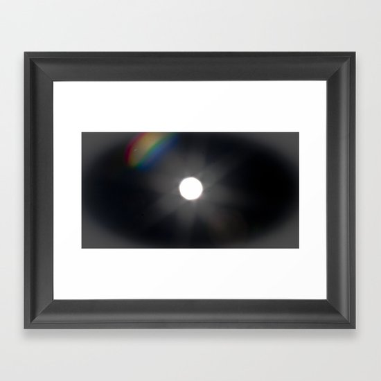 rainbow full-moon Framed Art Print