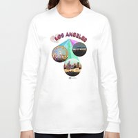 movie posters Long Sleeve T-shirts featuring Los Angeles—Movie Poster Edition by laloveshirts