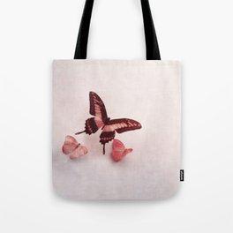 Pastel Pink Butterflies Tote Bag