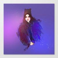 megan lara Canvas Prints featuring Lara by BENDA-BenLiu