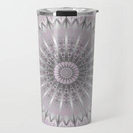 Mauve Silver Mandala Travel Mug