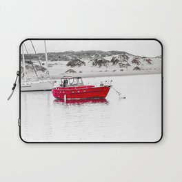 Red boat of the Bay Laptop Sleeve