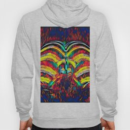 1349s-MAK Abstract Pop Color Erotica Explicit Psychedelic Yoni Buns Hoody