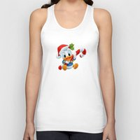 donald duck Tank Tops featuring Christmas baby Donald Duck by Yuliya L