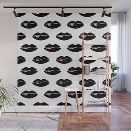 Pop At Lips Wall Mural
