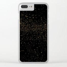 Golden Fleck Backgound Clear iPhone Case