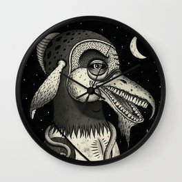 Bearded Fowl with Ambiguous Intentions Wall Clock