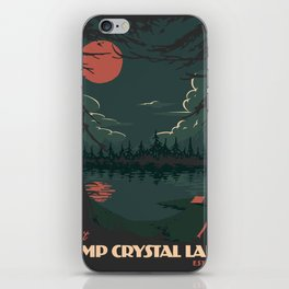 Visit Camp Crystal Lake iPhone Skin