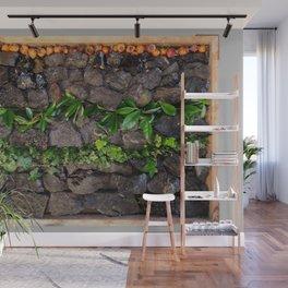 Coal and Leaves 01 Wall Mural