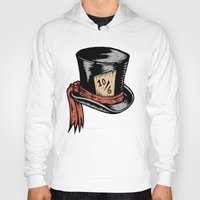 mad hatter Hoodies featuring Mad Hatter by Countmoopula