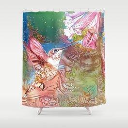 Fairy Hummingbird Shower Curtain