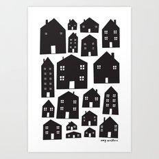 Scandi Houses Art Print
