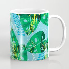 Elephant Leaf Green Blue Coffee Mug