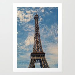 Eiffel Tower, Paris (Portrait) Art Print