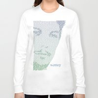 louis tomlinson Long Sleeve T-shirts featuring Louis Tomlinson lyric Happily Silhouette by Grace_arrocha