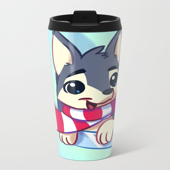 Window Doggy Doodle Metal Travel Mug