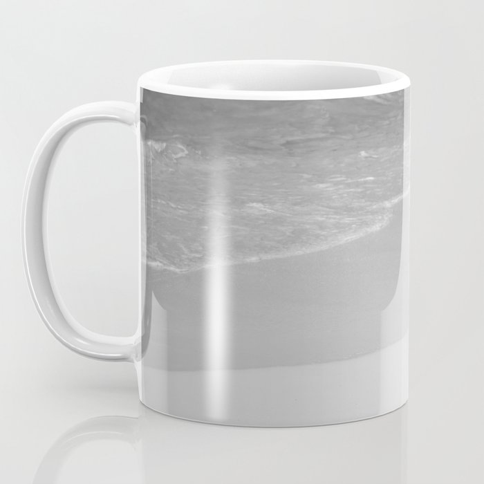 Lone African Penguin walking on beach Coffee Mug