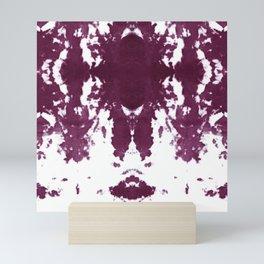Velvet Kumo Shibori Plum Mini Art Print