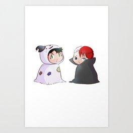 Deku and Shoto halloween Art Print