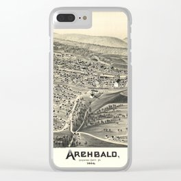 Aerial View of Archbald, Pennsylvania (1892) Clear iPhone Case