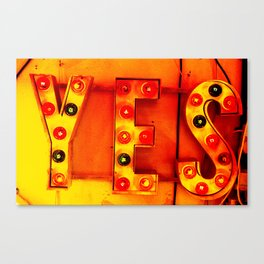 YES! Canvas Print